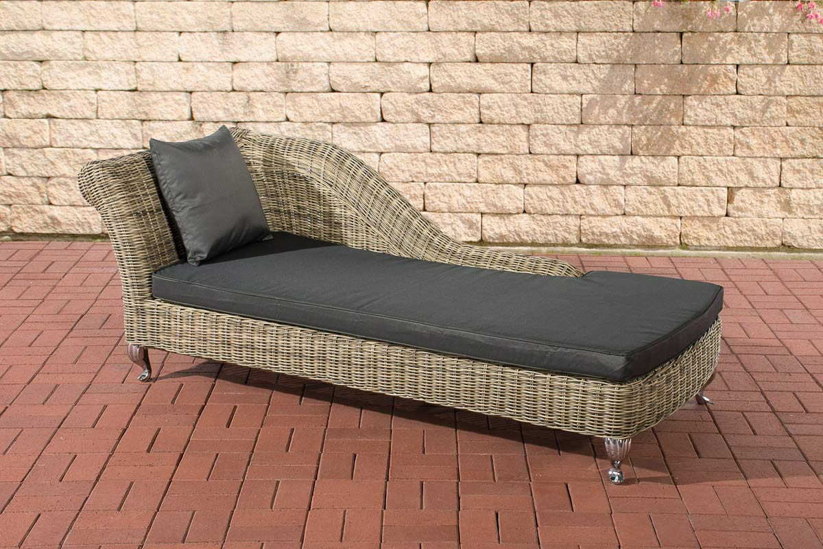 Chaise longue savannah 5mm natura rattan sun lounger for Chaise longue window seat