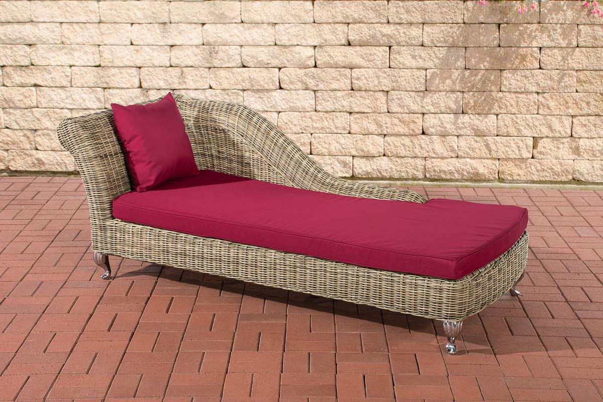 Chaise longue savannah 5mm natura rattan sun lounger for Chaise longue seat