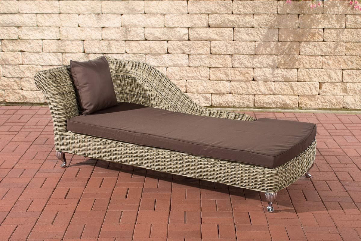 Chaise Longue Savannah 5mm Natura Rattan Sun Lounger Garden Sofa Seat Bench New Ebay