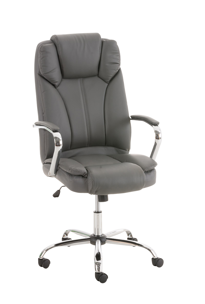 XXL Heavy Duty Office Chair XANTHOS Swivel Adjustable Leather Iron Seat Tilt