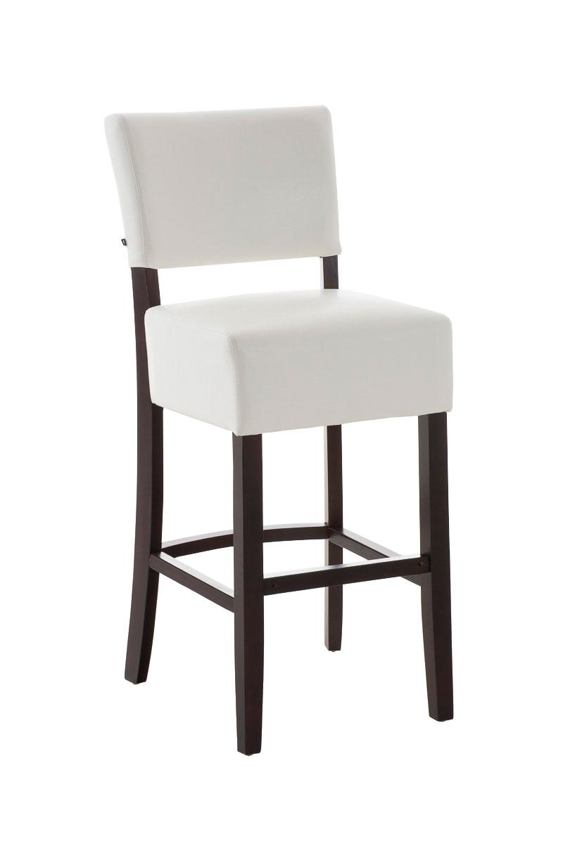 holz barhocker pita mit lehne kunstleder barstuhl tresen. Black Bedroom Furniture Sets. Home Design Ideas
