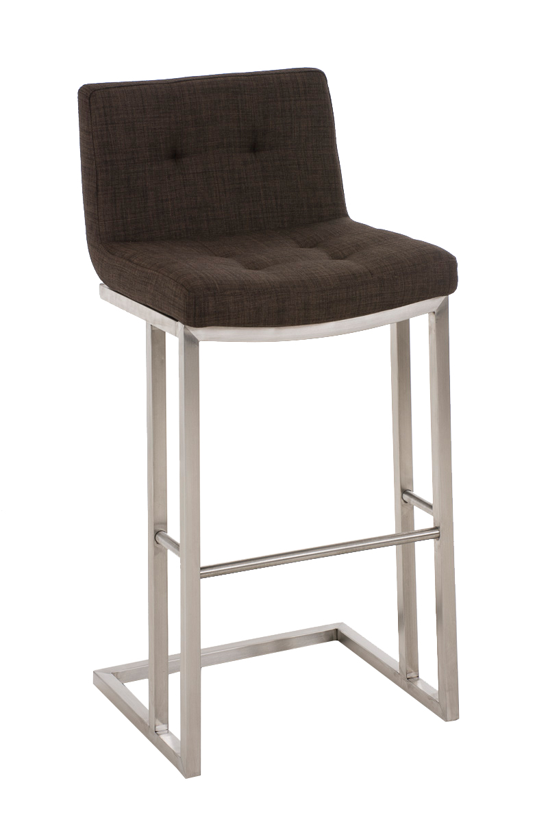 Bar Stool CARLTON E78 Tweed Fabric Steel Kitchen Breakfast Pub Chair Seat Des