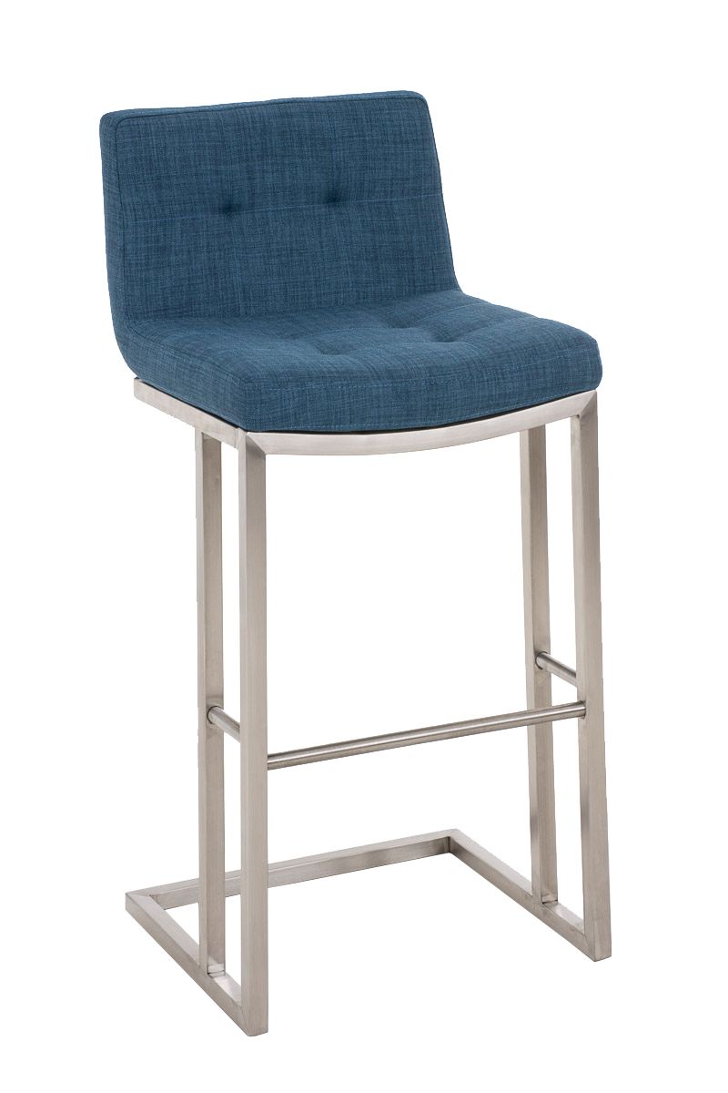 Bar Stool Carlton E78 Tweed Fabric Steel Kitchen Breakfast