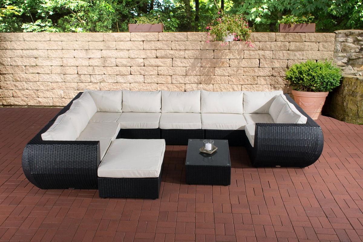 gartengarnitur gibraltar sitzgruppe polyrattan loungem bel gartenm bel liege neu ebay. Black Bedroom Furniture Sets. Home Design Ideas