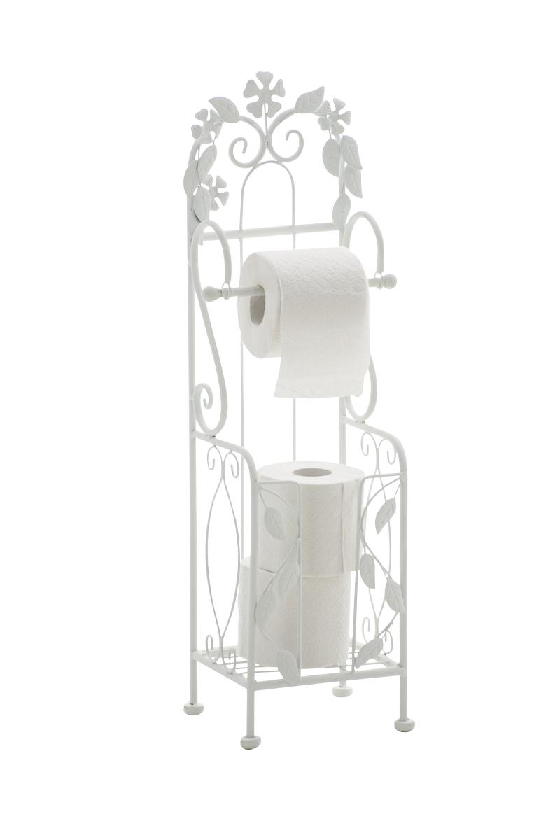 Standing vintage toilet paper holder carlotta iron shabby for Toilette shabby chic