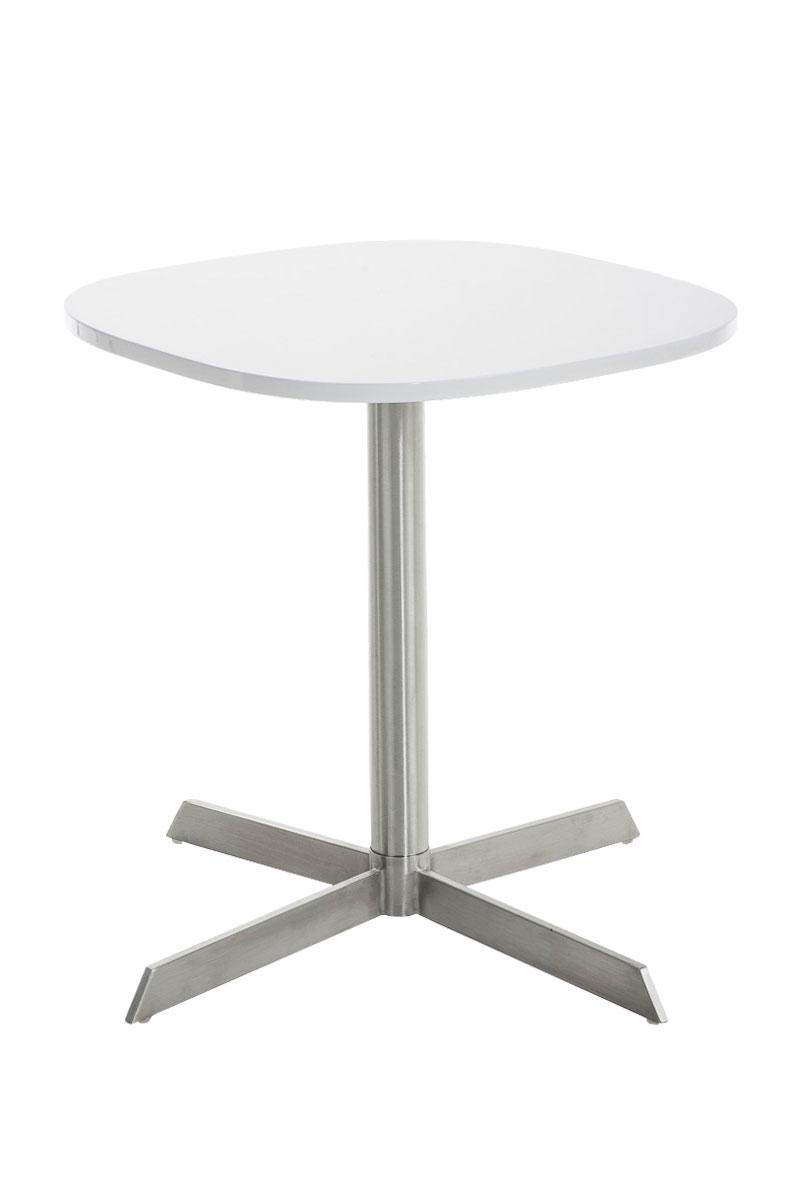 Modern Side Table CHARLESTON Square Living Room Coffee Stainless Steel Wood N