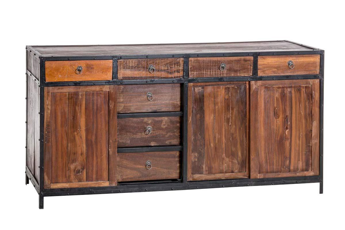 sideboard akona schrank metall holz vintage kommode loft. Black Bedroom Furniture Sets. Home Design Ideas