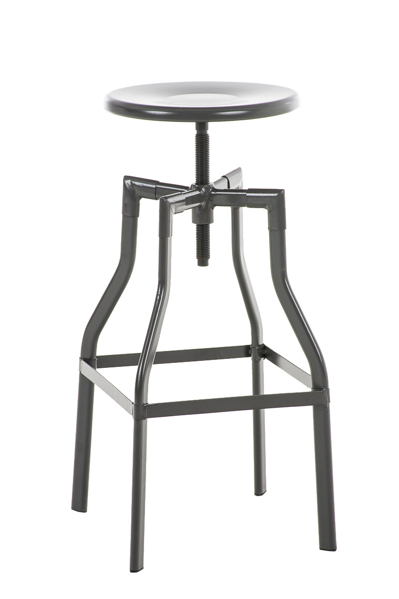 Round Industrial Bar Stool Sinus Vintage Retro Look Metal