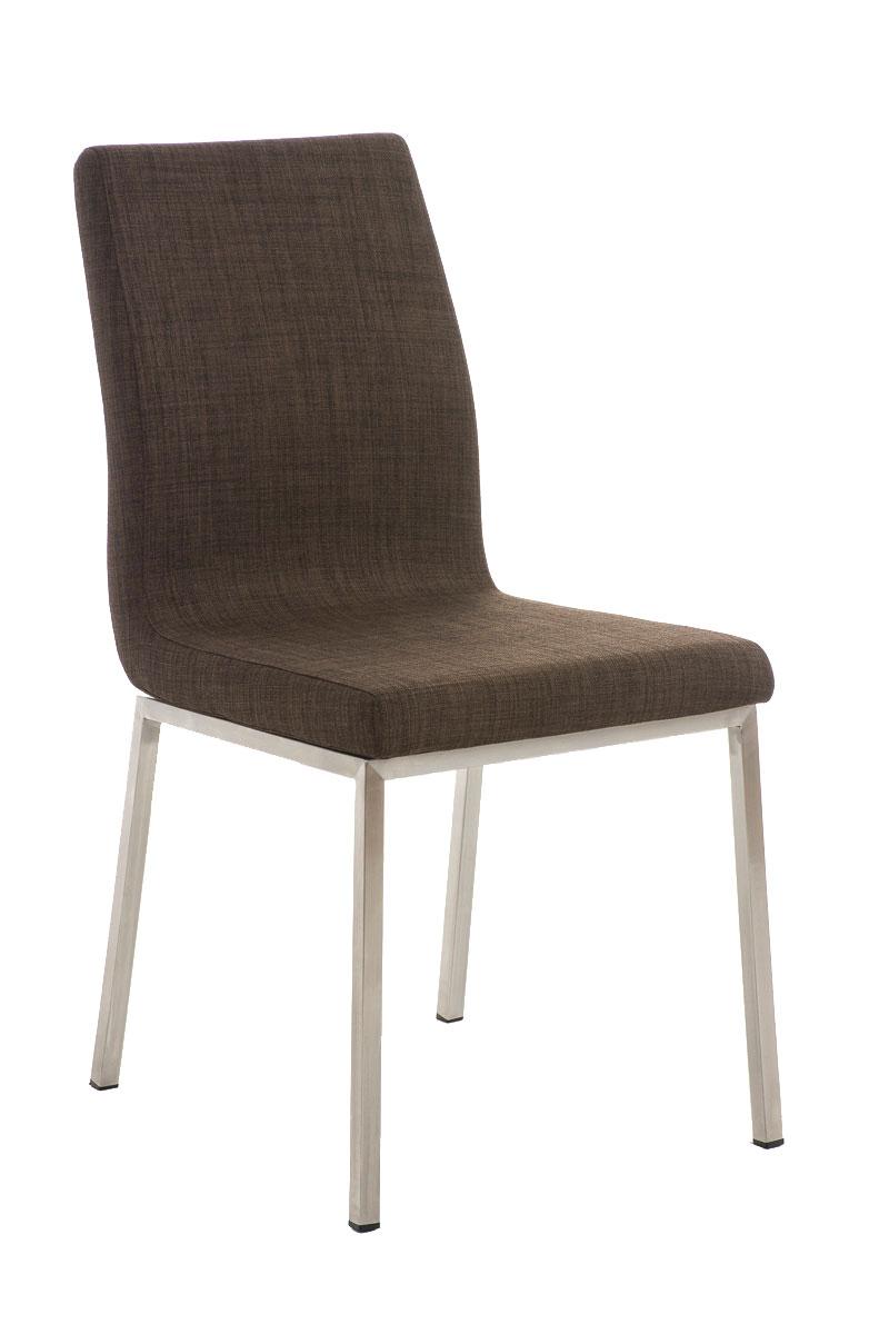 edelstahl esszimmerstuhl colmar stoff mit lehne polster k chenstuhl stuhl ebay. Black Bedroom Furniture Sets. Home Design Ideas