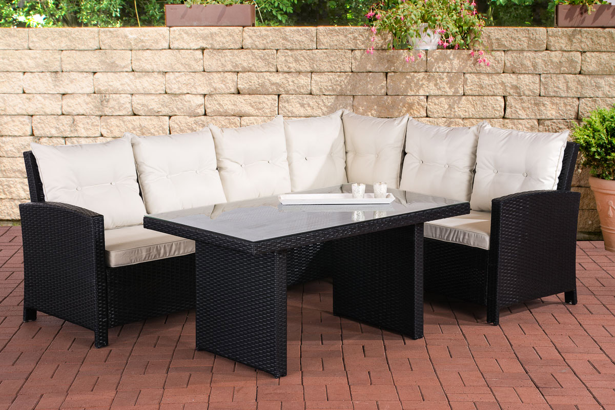 poly rattan sitzgruppe miranda essgruppe gartenm bel set 6 personen ebay. Black Bedroom Furniture Sets. Home Design Ideas