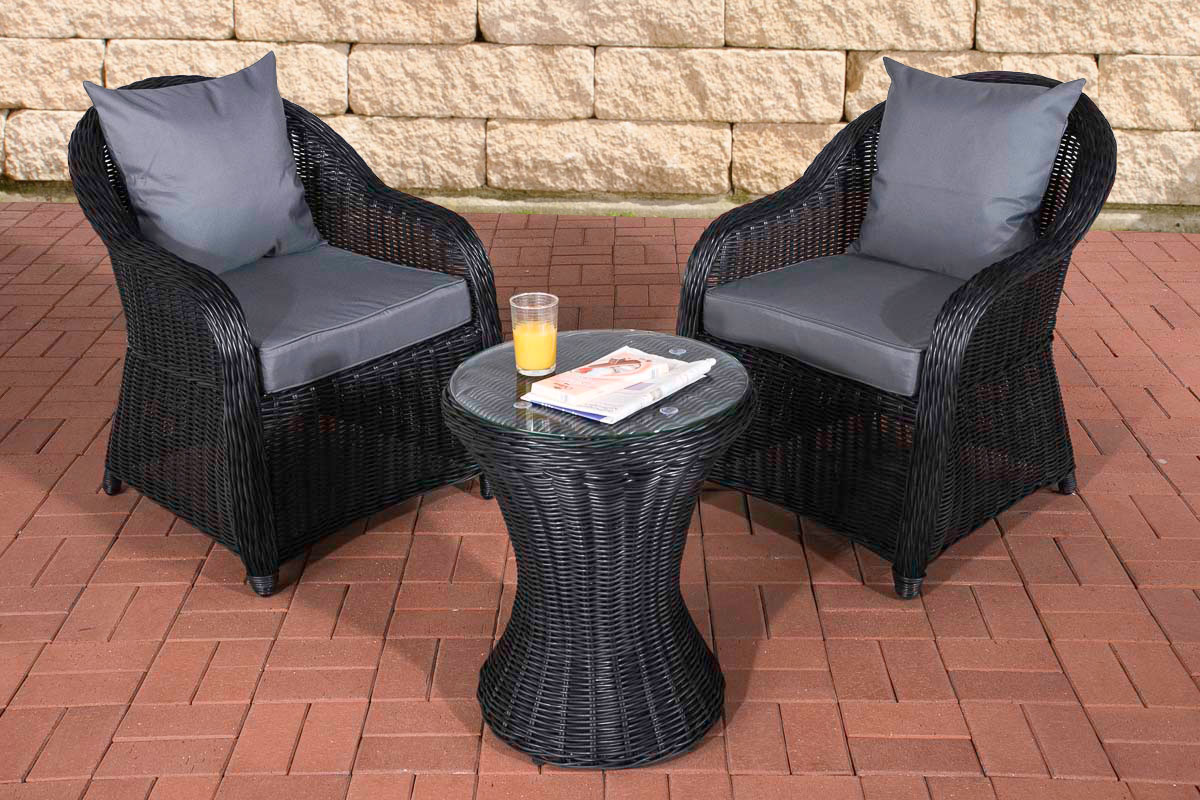 garten sitzgruppe sandino schwarz gartenset terrasse. Black Bedroom Furniture Sets. Home Design Ideas