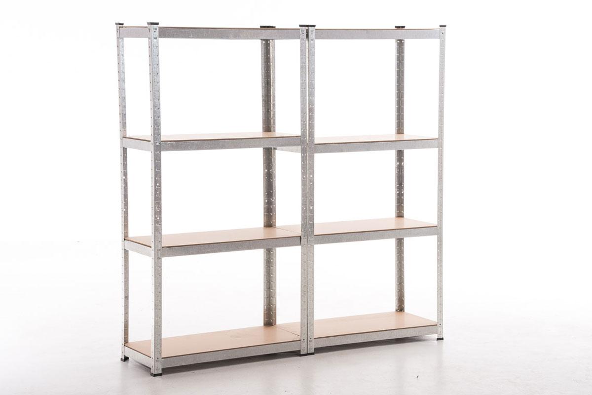 2x estanterias metalica para garaje trasteros casa 80x40x160 baldas madera ebay - Estanterias para garaje ...