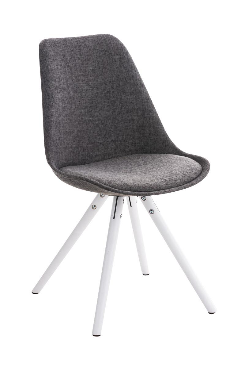 Chaise visiteur pegleg blanc cuisine bois fauteuil tissu - Tissus pour recouvrir chaise de cuisine ...