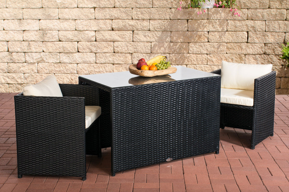 gartenm bel set rattan schwarz. Black Bedroom Furniture Sets. Home Design Ideas