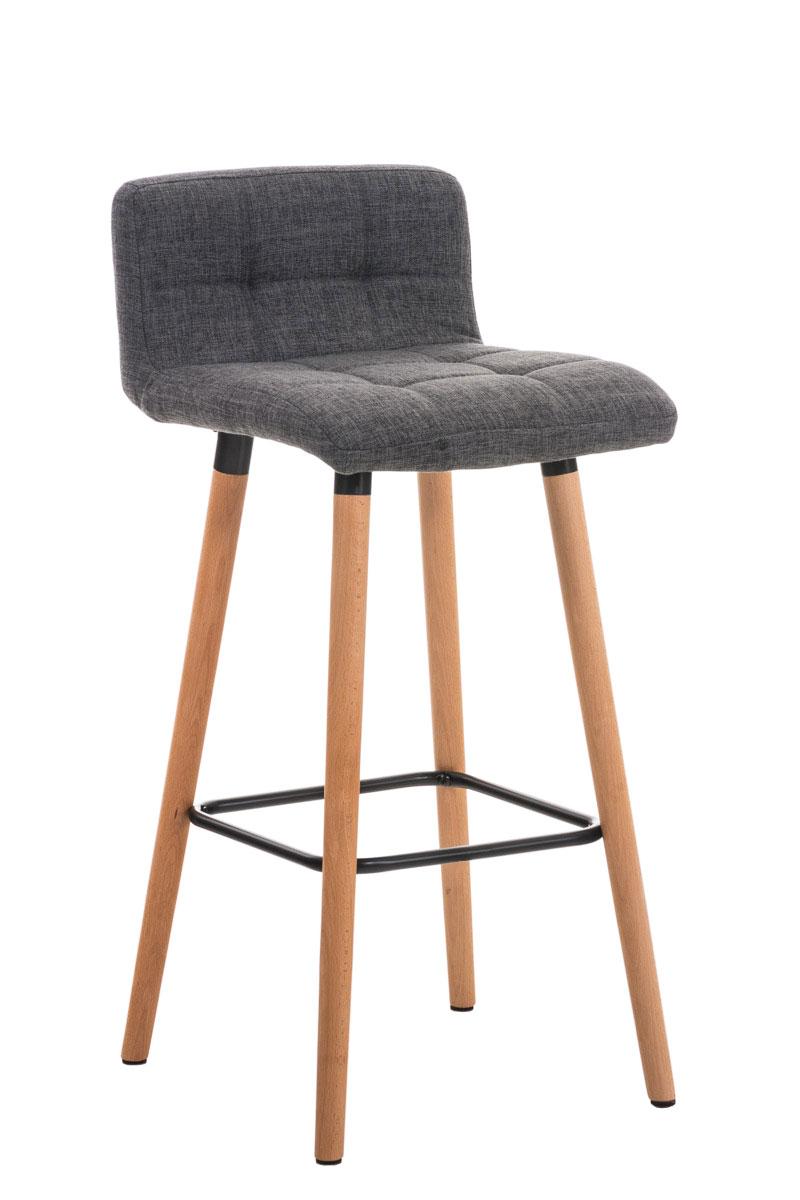 barhocker lincoln stoff mit lehne tresen thekenhocker holz. Black Bedroom Furniture Sets. Home Design Ideas