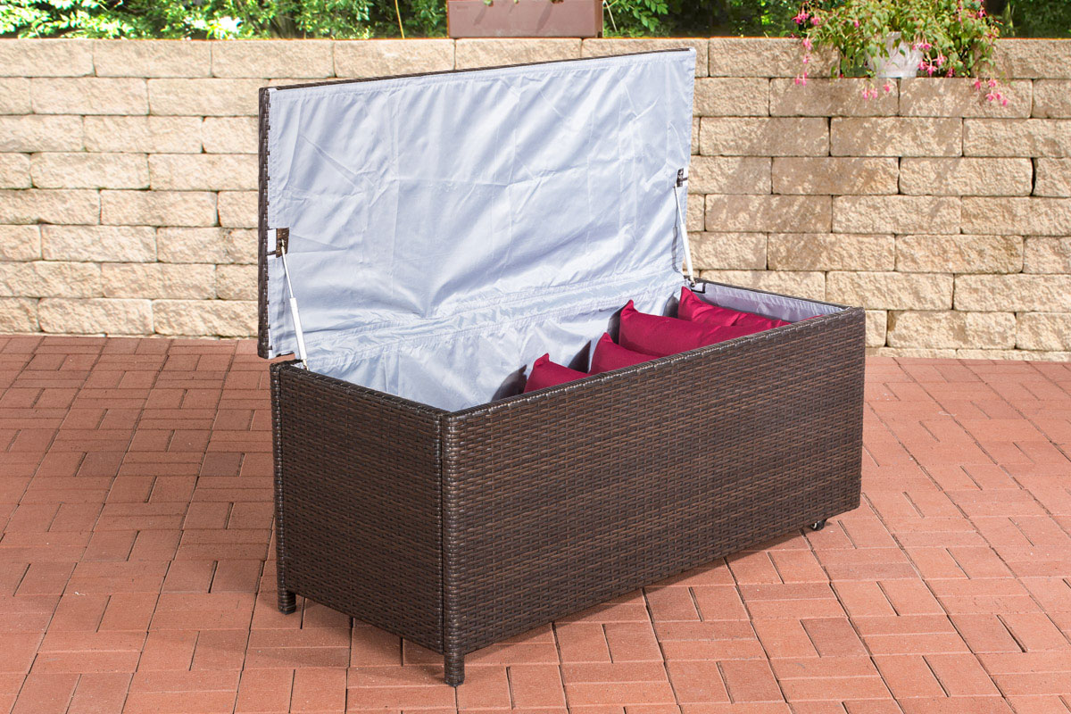 polyrattan auflagenbox kudde gartenbox gartentruhe aufbewahrung kissenbox neu. Black Bedroom Furniture Sets. Home Design Ideas