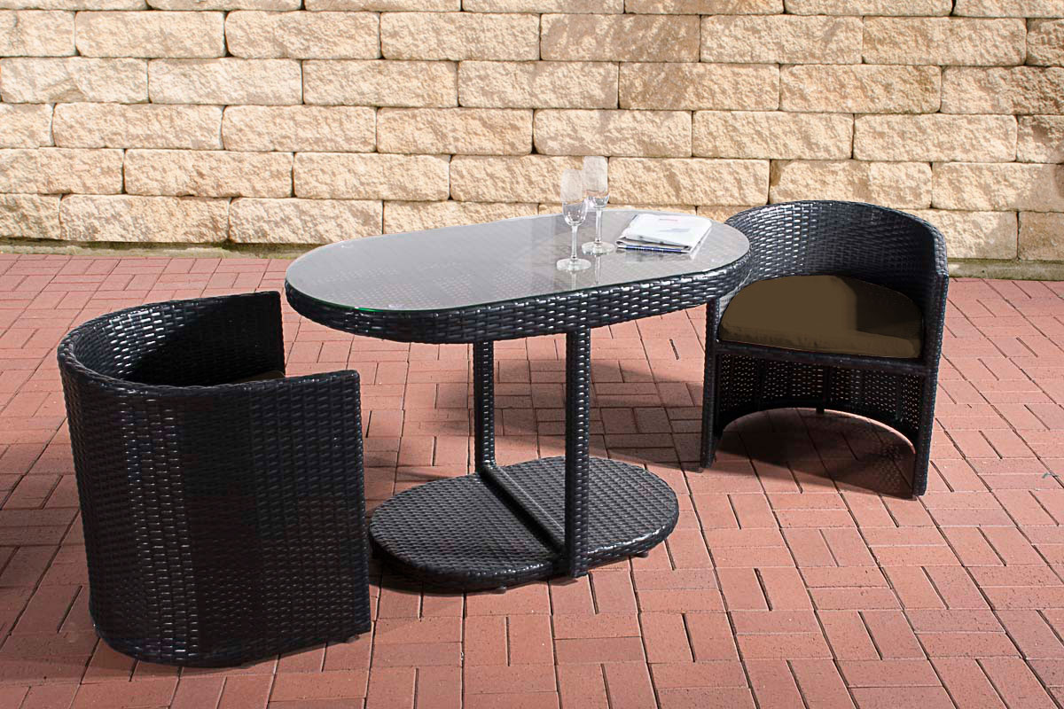 poly rattan balkon sitzgruppe bayamo rattan gartenm bel set 2 personen farbwahl ebay. Black Bedroom Furniture Sets. Home Design Ideas