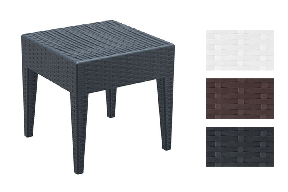 garten beistell tisch miami 45 x 45 cm vollkunststoff. Black Bedroom Furniture Sets. Home Design Ideas
