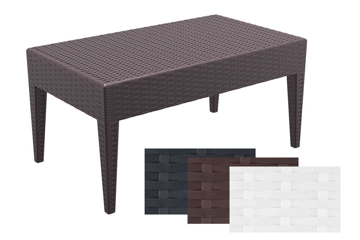 design loungetisch miami vollkunststoff rattan optik gartentisch ca 90 x 50 cm ebay. Black Bedroom Furniture Sets. Home Design Ideas