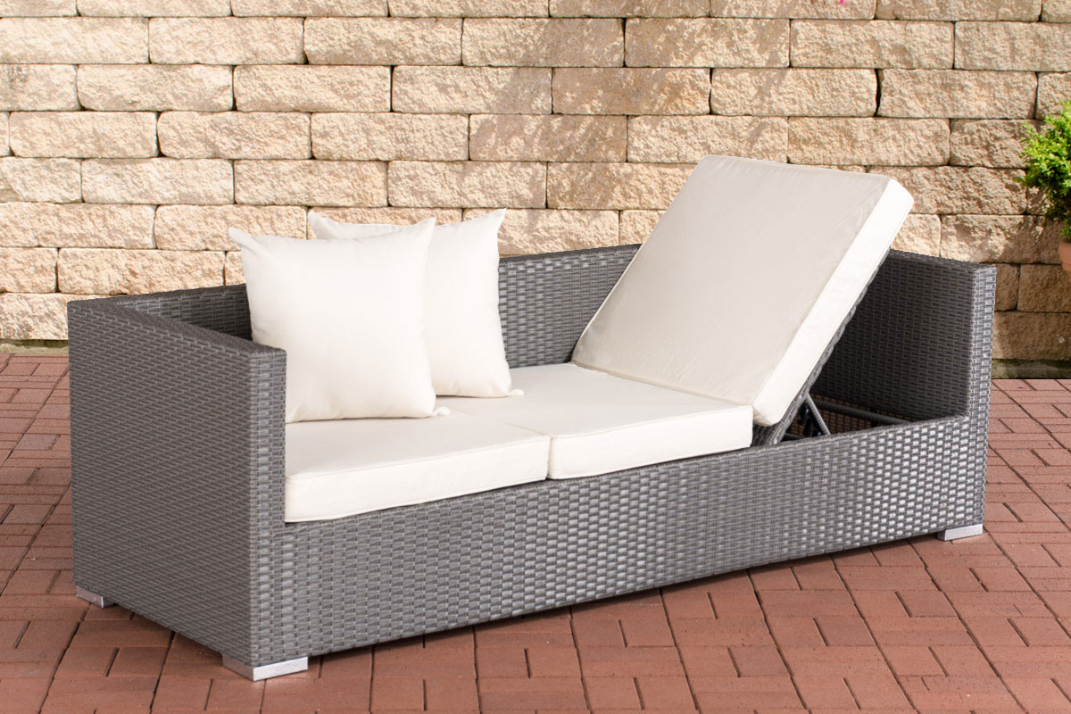 polyrattan lounge sofa solano sonnenliege gartensofa liege liegestuhl couch neu. Black Bedroom Furniture Sets. Home Design Ideas