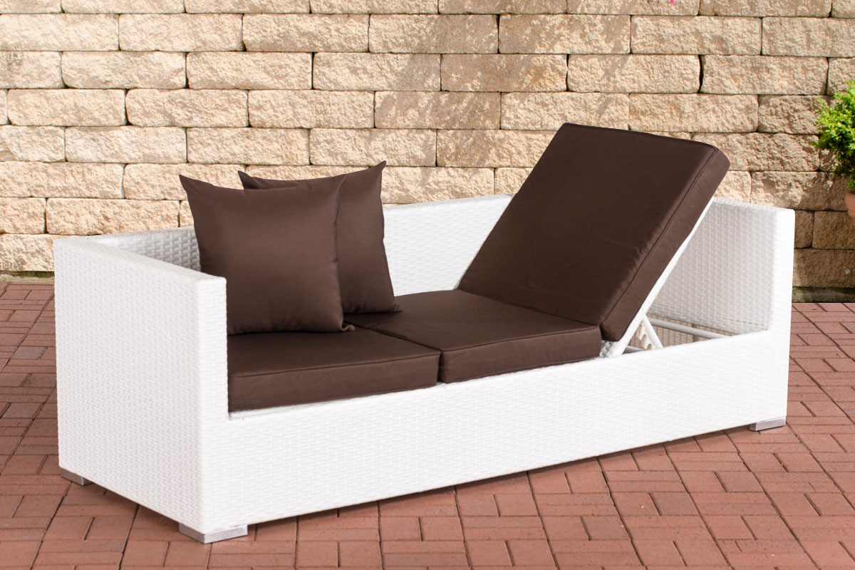 polyrattan lounge sofa solano sonnenliege gartensofa liege liegestuhl couch neu ebay. Black Bedroom Furniture Sets. Home Design Ideas