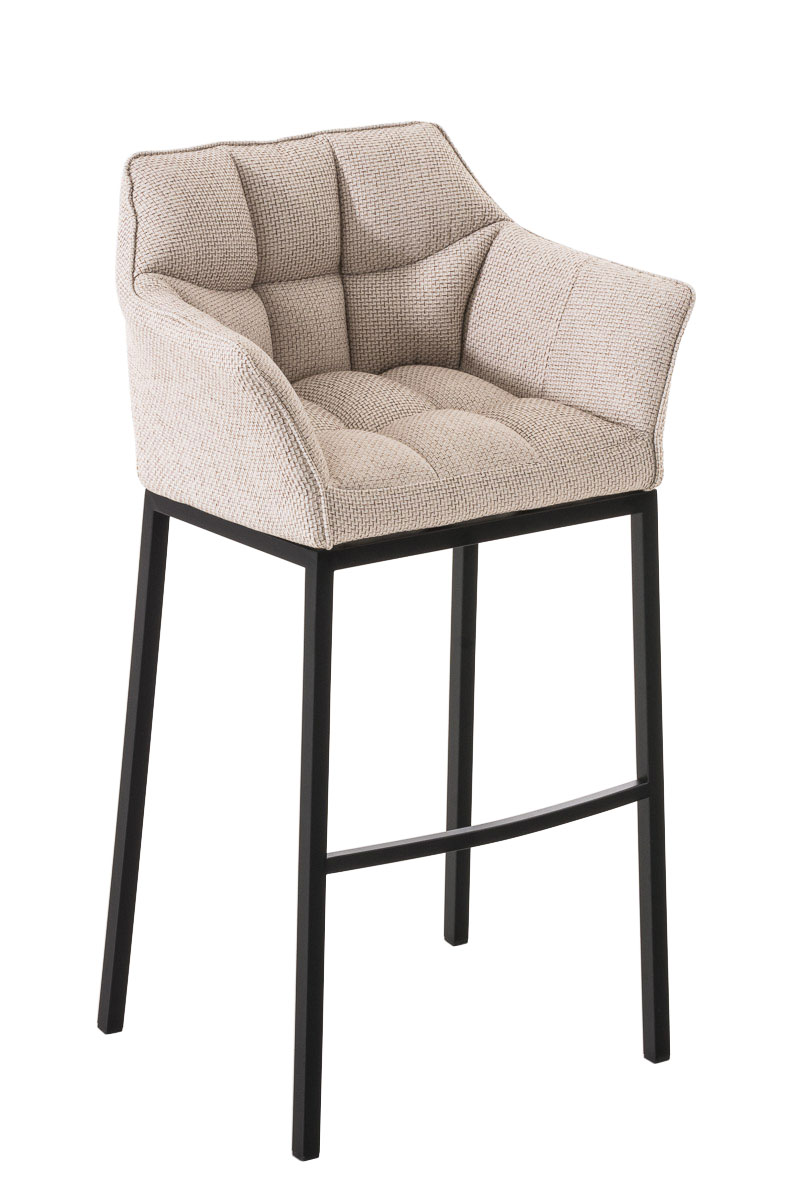 Barhocker damaso b stoff barstuhl thekenhocker lounge for Barhocker metall