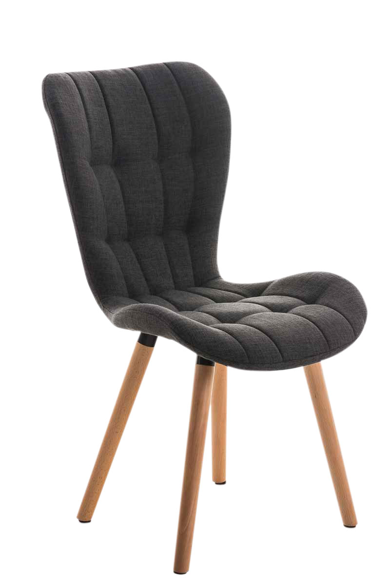 Chaise salle manger elda fauteuil tissu bois cuisine lounge design scandinave ebay for Chaise fauteuil salle a manger pour deco cuisine