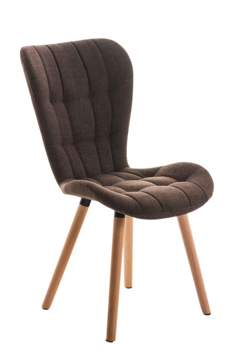 Chaise salle manger elda fauteuil tissu bois cuisine - Chaises fauteuils salle a manger ...