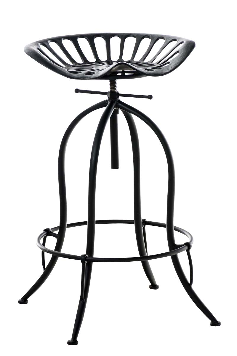 tabouret de bar mimosa m tal repose pieds industriel r glable cuisine bistrot ebay. Black Bedroom Furniture Sets. Home Design Ideas