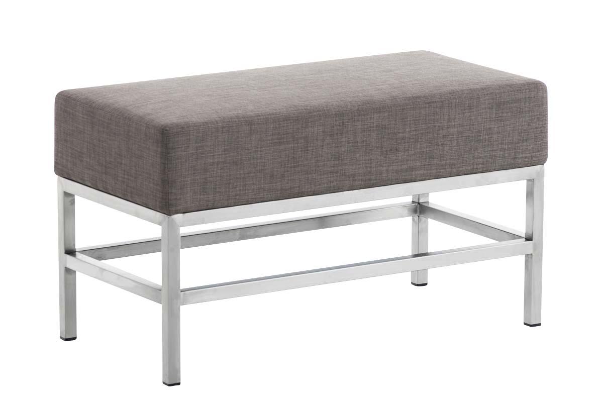sitzbank sitzhocker tulip stoff edelstahl gepolstert gr e. Black Bedroom Furniture Sets. Home Design Ideas
