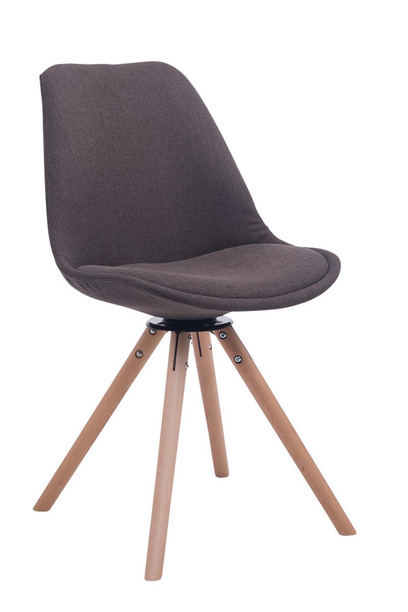 besucherstuhl troyes drehbar natura stoff rund lehnstuhl esszimmerstuhl retro ebay. Black Bedroom Furniture Sets. Home Design Ideas
