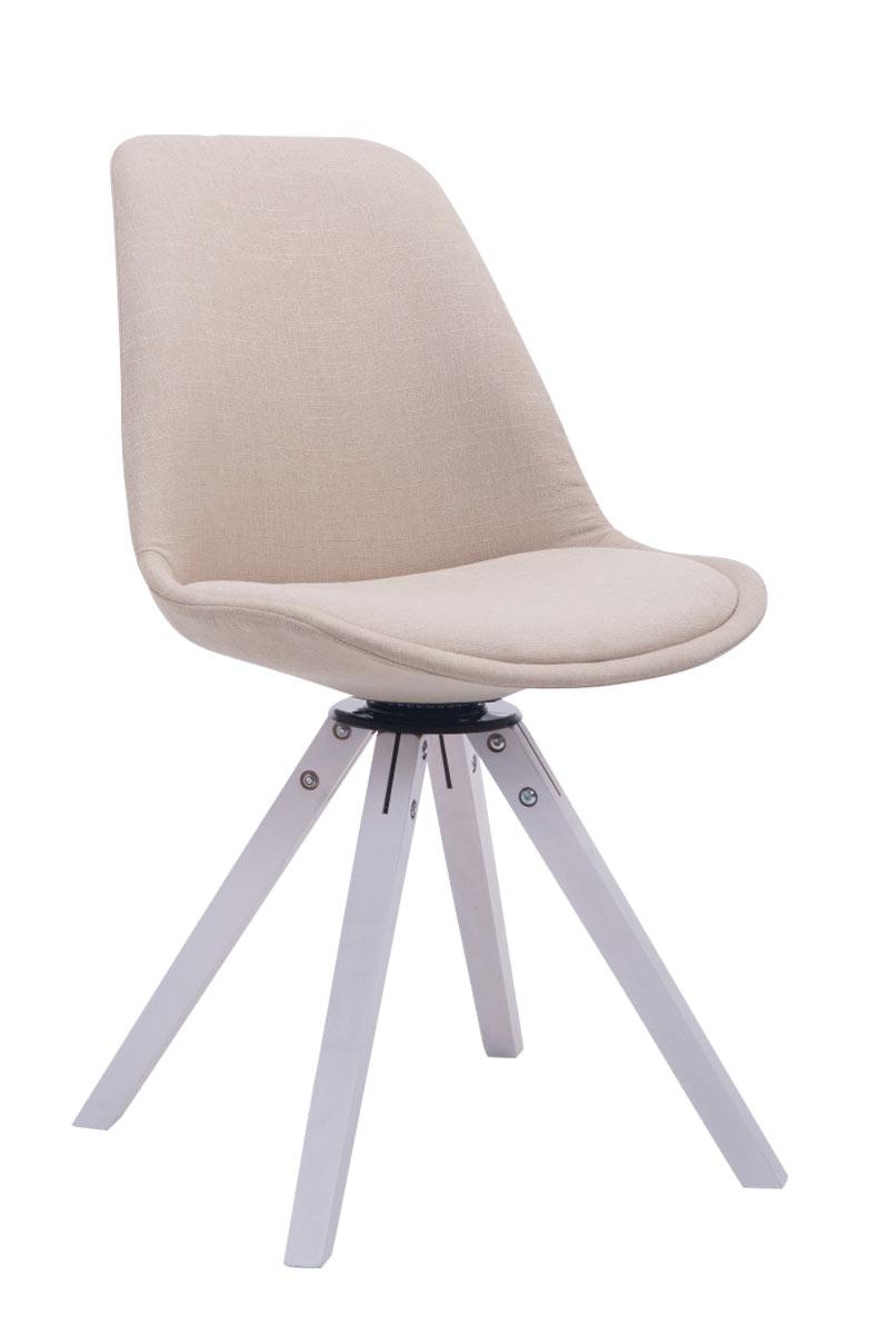 besucherstuhl troyes drehbar wei stoff square mit lehne esszimmerstuhl retro ebay. Black Bedroom Furniture Sets. Home Design Ideas
