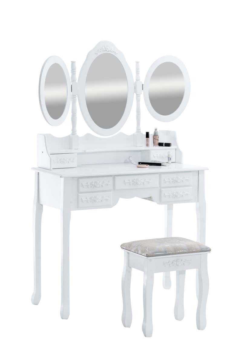schminktisch pauline vintage frisierkommode kosmetiktisch frisiertisch landhaus ebay. Black Bedroom Furniture Sets. Home Design Ideas