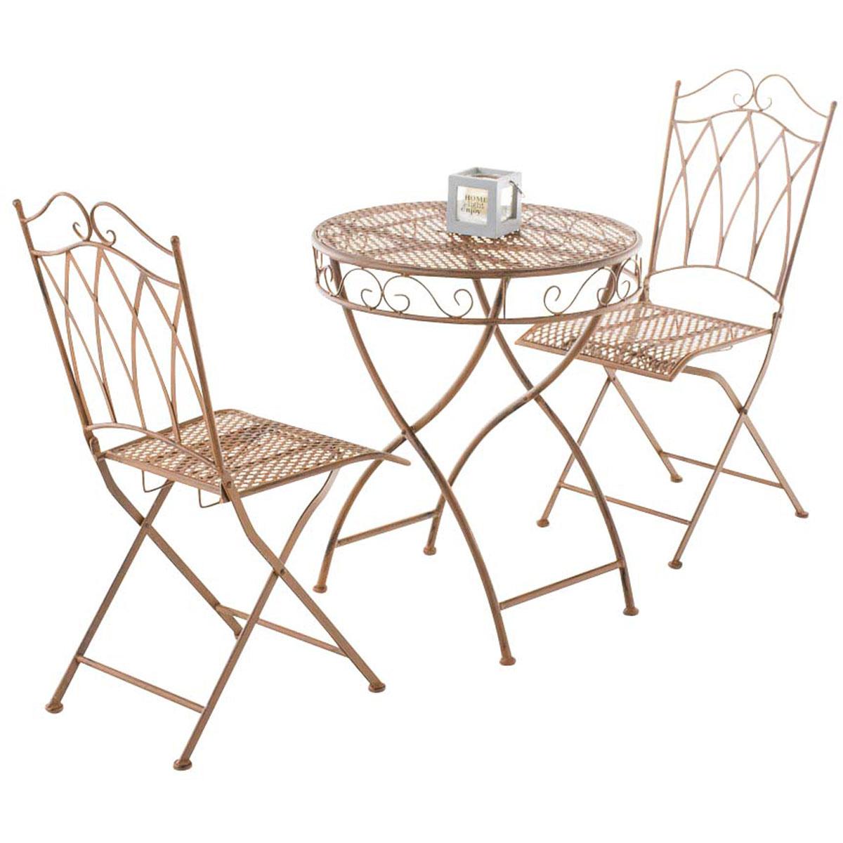 sitzgruppe lunis eisen gartenm bel metall gartenset vintage landhaus bistroset ebay. Black Bedroom Furniture Sets. Home Design Ideas