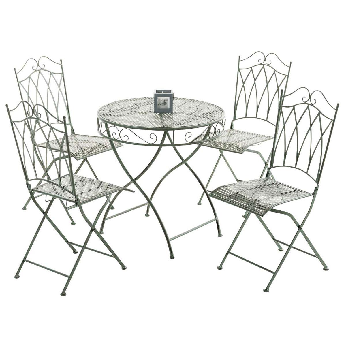 sitzgruppe lunis xxl eisen gartenm bel metall gartenset. Black Bedroom Furniture Sets. Home Design Ideas