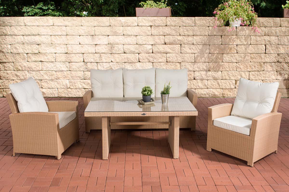 gartengarnitur fisolo sitzgruppe polyrattan gartenm bel sitzkissen tisch stuhl ebay. Black Bedroom Furniture Sets. Home Design Ideas