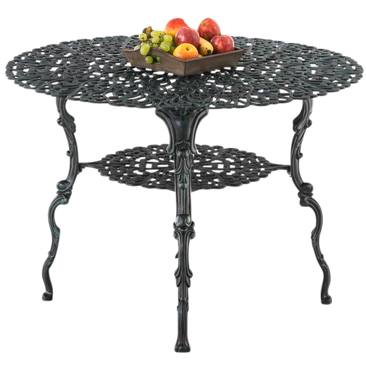 gartentisch rudra rund terrassentisch esstisch metalltisch. Black Bedroom Furniture Sets. Home Design Ideas