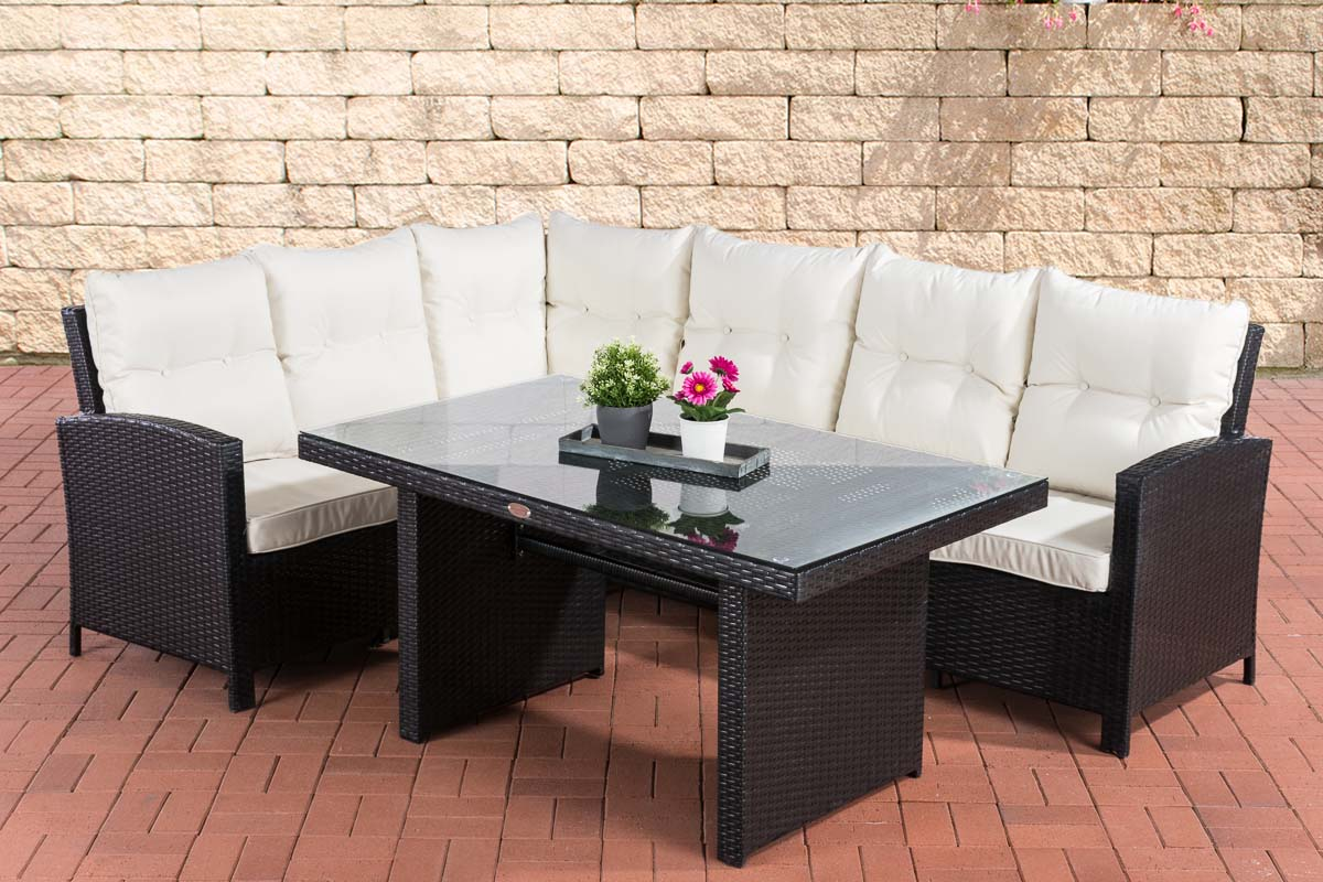 polyrattan gartengarnitur bermeo gartenset sitzgruppe lounge set rattanm bel. Black Bedroom Furniture Sets. Home Design Ideas