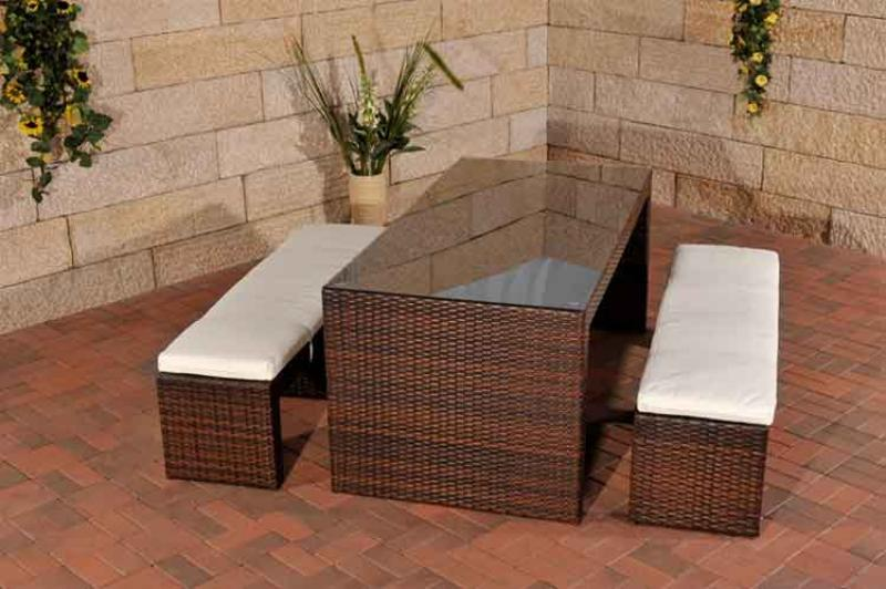 polyrattan gartenbar coruna sitzgruppe gartenbank barset rattan bar gartentheke ebay. Black Bedroom Furniture Sets. Home Design Ideas