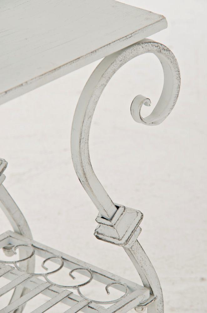 blumentisch aurica antik wei neu eisen pflanztisch metalltisch blumenst nder ebay. Black Bedroom Furniture Sets. Home Design Ideas