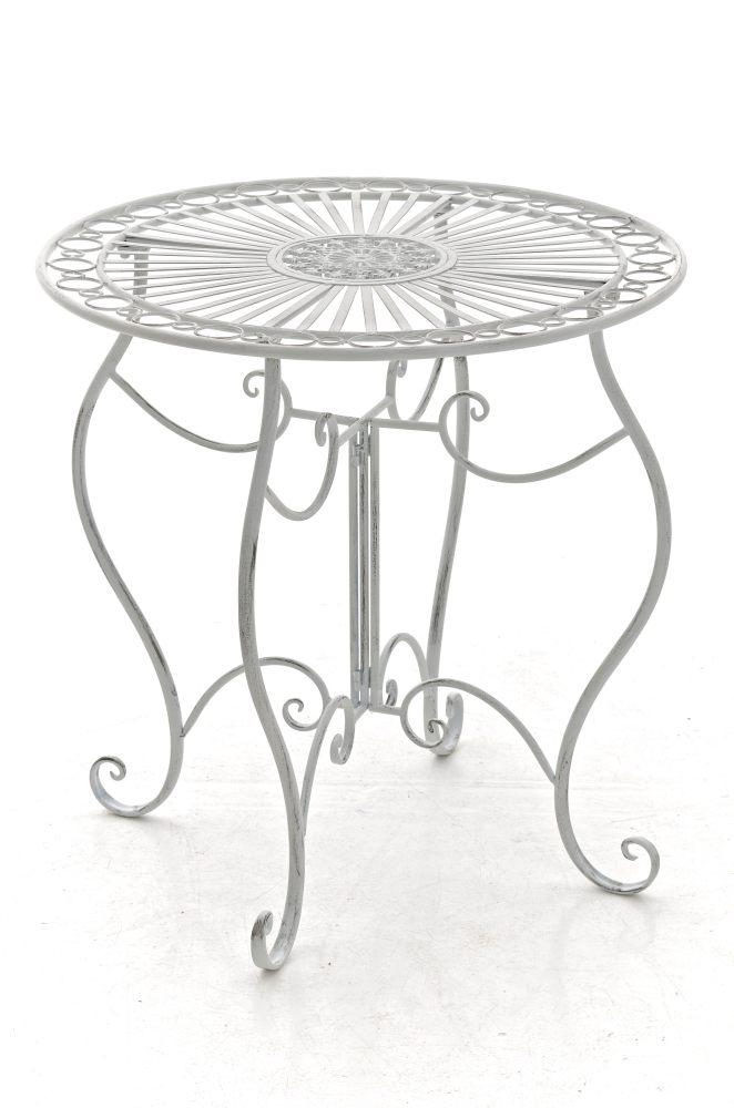 tisch indra gartentisch beistelltisch metalltisch eisen terassentisch shabby ebay. Black Bedroom Furniture Sets. Home Design Ideas