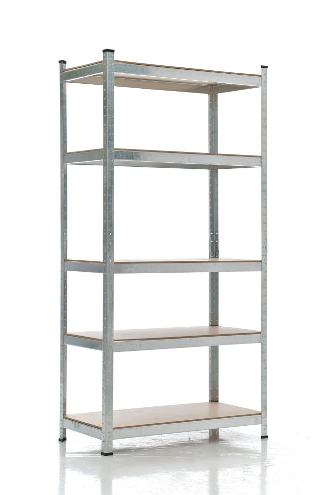 schwerlastregal cp345 steckregal werkstattregal werkbank metall 90x40x180cm silber. Black Bedroom Furniture Sets. Home Design Ideas