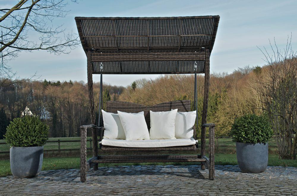 2er hollywoodschaukel ocean grau meliert gartenschaukel. Black Bedroom Furniture Sets. Home Design Ideas