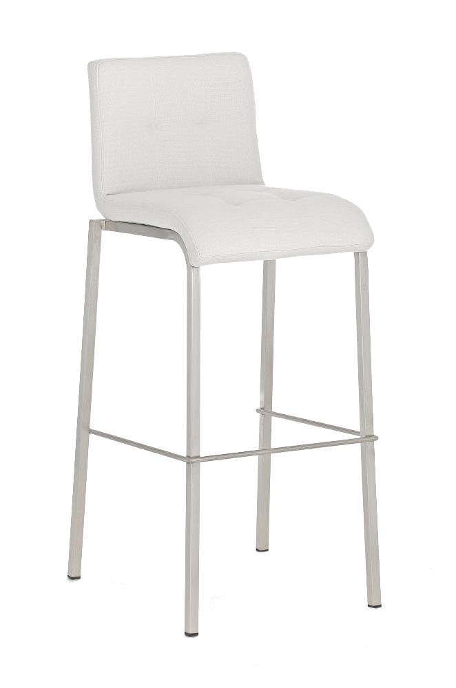 barhocker cp123 barstuhl textil gestell edelstahl wei. Black Bedroom Furniture Sets. Home Design Ideas