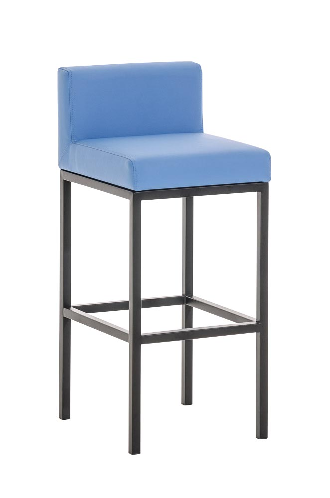 tabouret de bar goa similicuir design graphique m tal repose pied cuisine neuf ebay. Black Bedroom Furniture Sets. Home Design Ideas