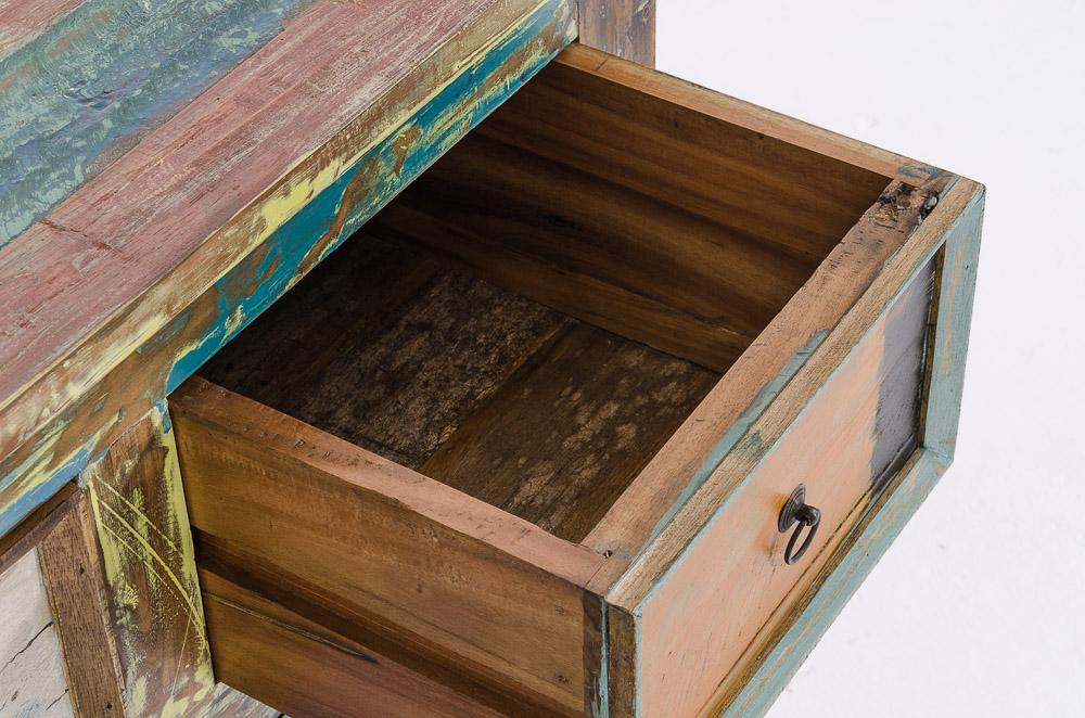 teakholz schubladenkommode meja bunt anrichte sideboard. Black Bedroom Furniture Sets. Home Design Ideas
