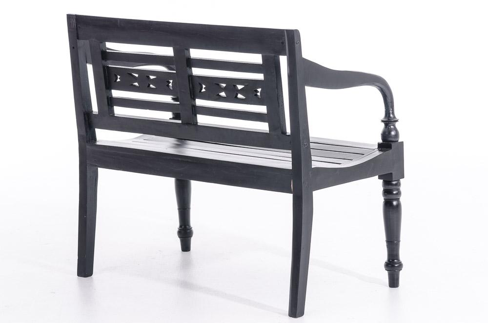 2er bank mahagoni schwarz sitzbank kolonialstil mahagoni. Black Bedroom Furniture Sets. Home Design Ideas