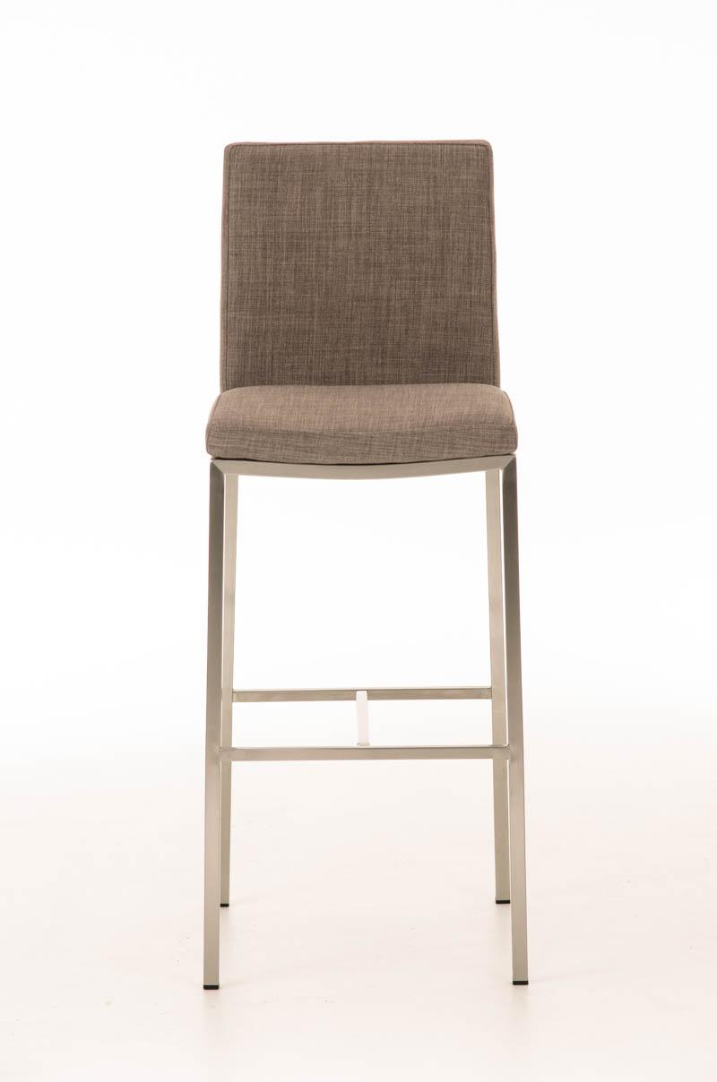 edelstahl barhocker freeport stoff mit lehne tresenstuhl. Black Bedroom Furniture Sets. Home Design Ideas
