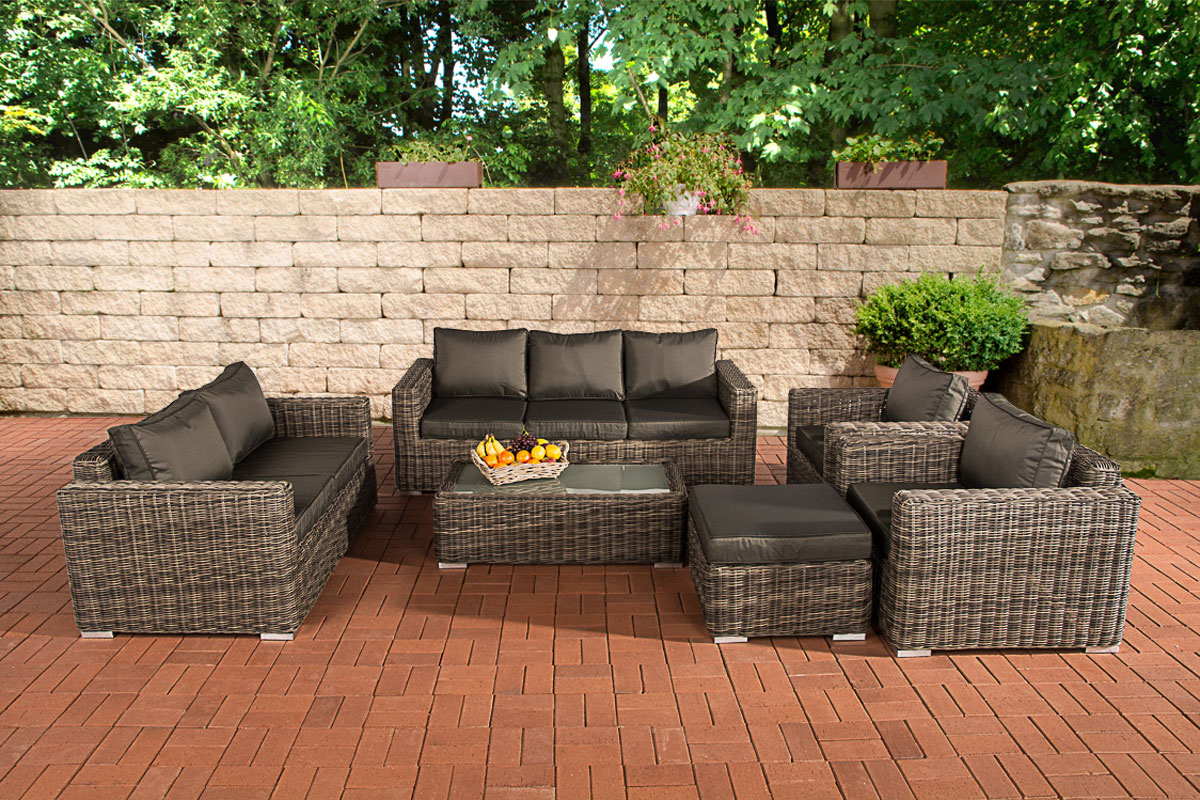 3 2 1 1 Sofa Garnitur Cp050 Lounge Set Gartengarnitur Poly Rattan