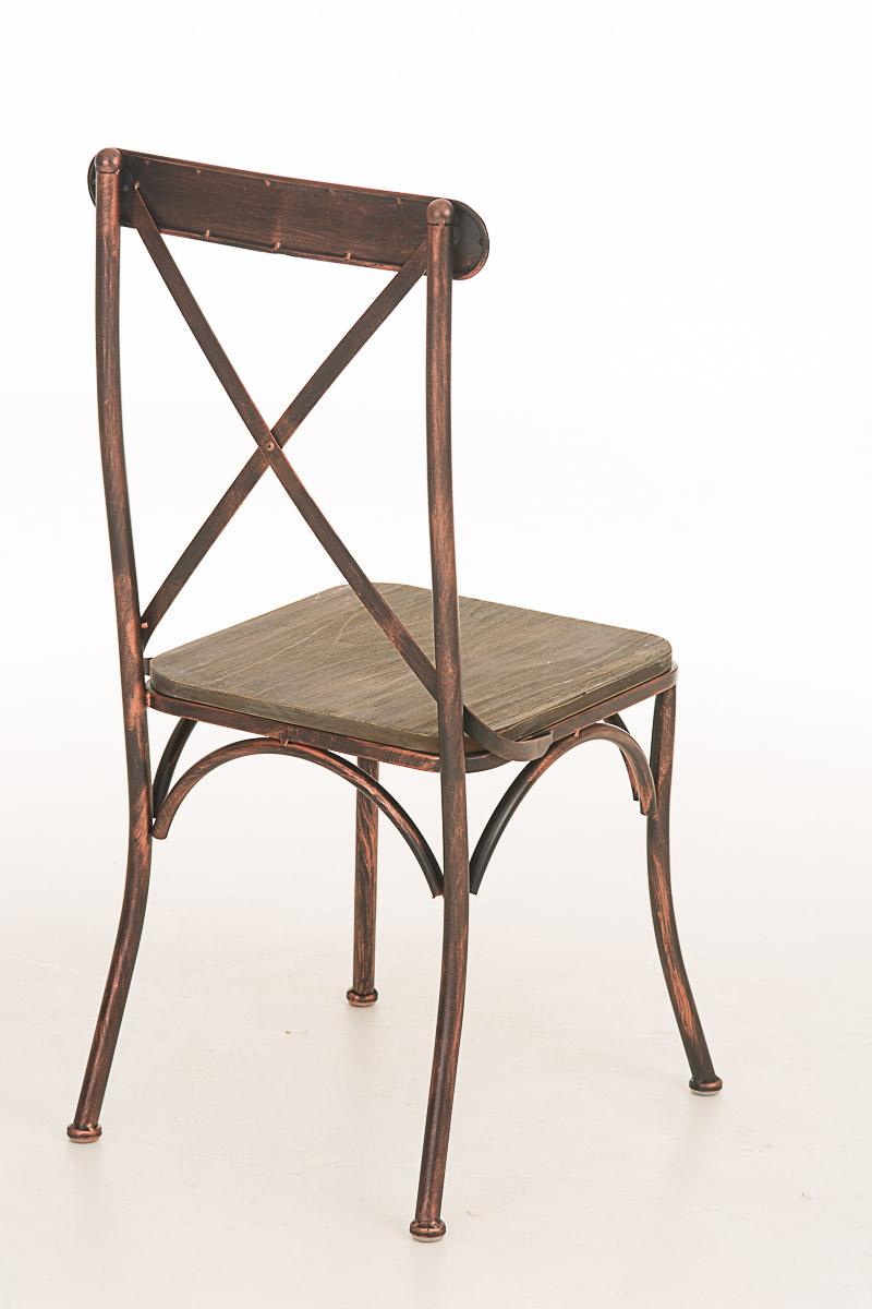 bistrostuhl bromley stuhl metall holz biergartenstuhl industrial look cafestuhl ebay. Black Bedroom Furniture Sets. Home Design Ideas